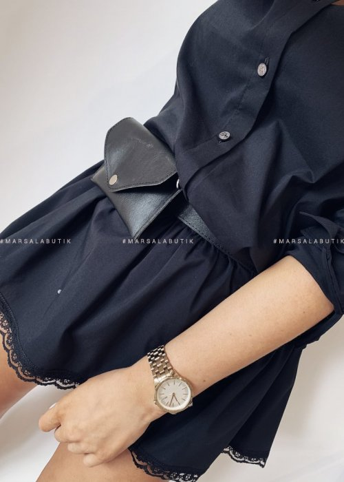 Shirt dress ARMY GIRL with black FANNYPACK