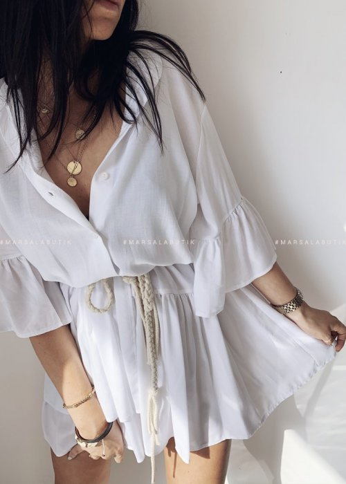 Shirt dress VIENNA white