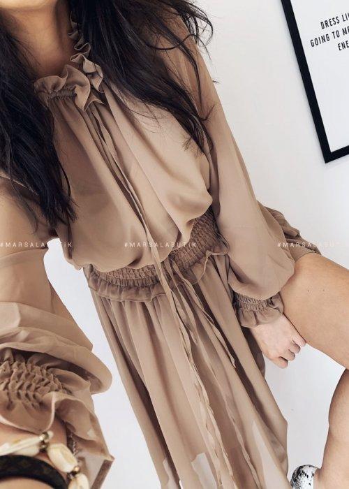 Sukienka LORETT kamel