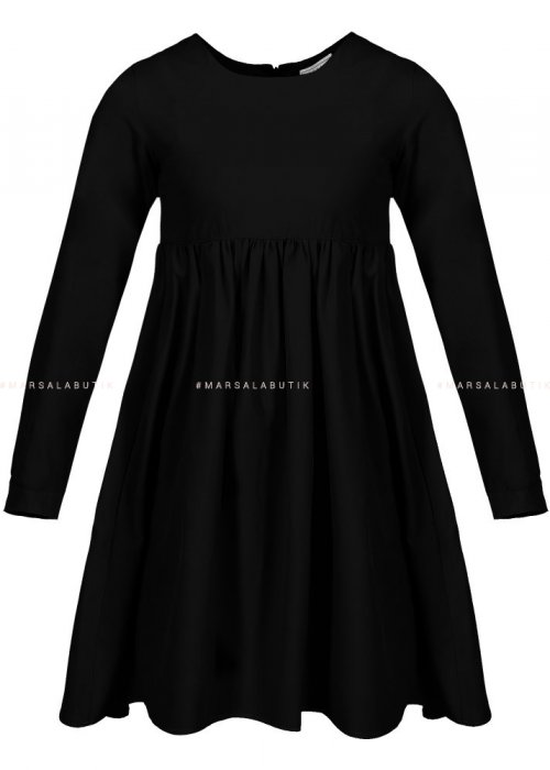 Sukienka z falbanką w kolorze czarnym - NATALY