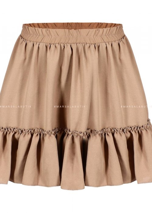 Frill beige dress – FIRST