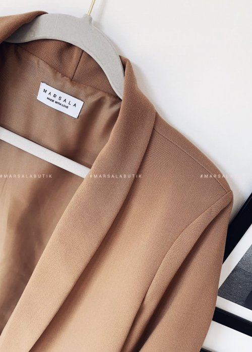 CLASSIC jacket by MARSALA camel