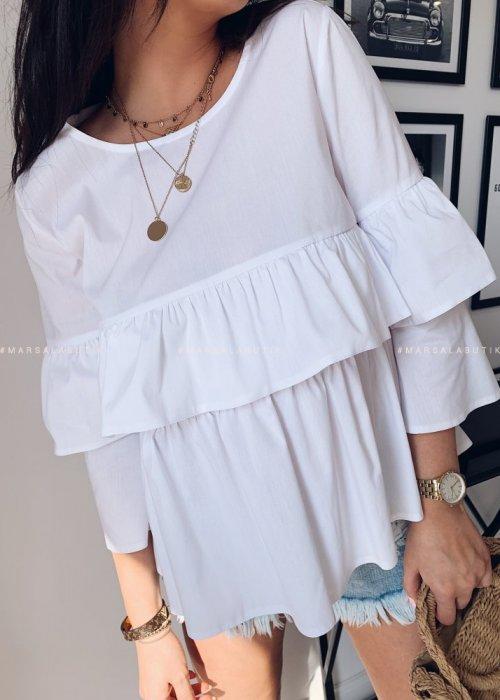KLOE frill shirt white