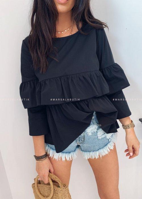 Koszula KLOE falbanki czarna