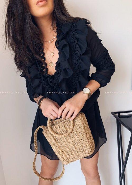 Sukienka TRIS szyfonowa czarna
