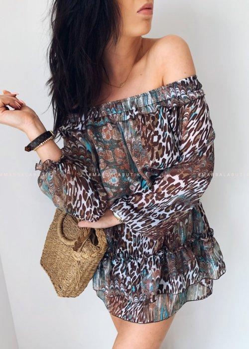 Sukienka hiszpanka WILD pantera print