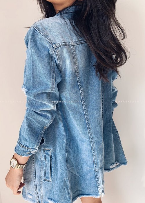 Katana MEMPHIS jeansowa z saszetka