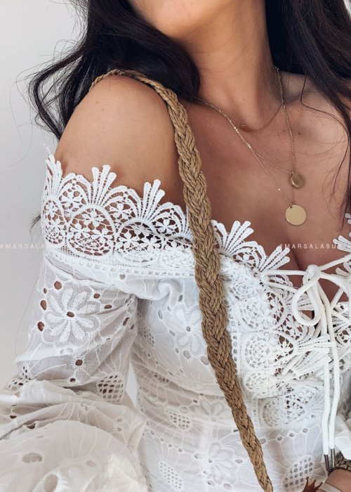 Sukienka ANGEL ażurowa biała