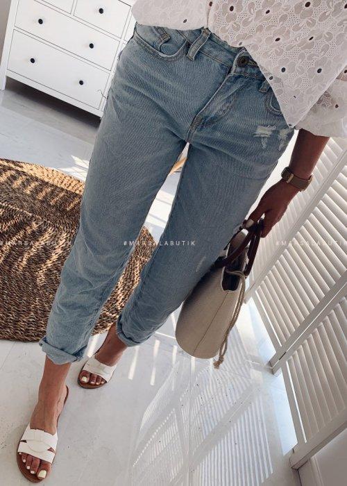 Spodnie MY EX jasny jeans