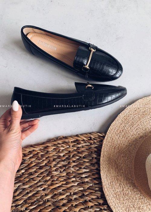 RENEE moccasins black