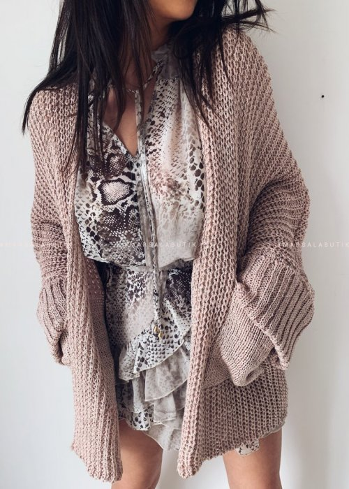 SOMFY cardigan with pink pockets
