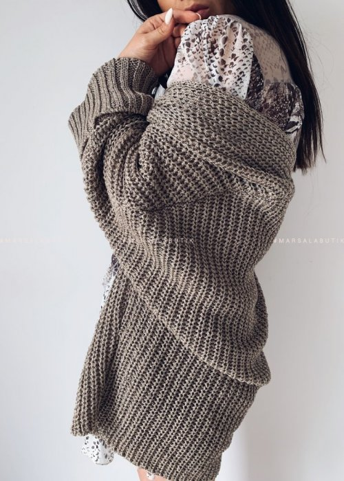 SOMFY cardigan with mocca pockets
