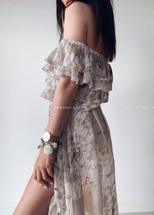 Sukienka maxi PALMBAY beige