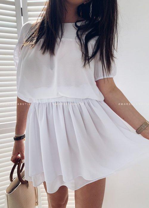 Komplet bluzka+spódniczka BATH biały