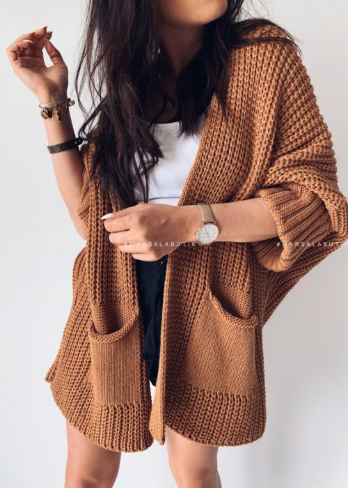 SOMFY cardigan with camel pockets