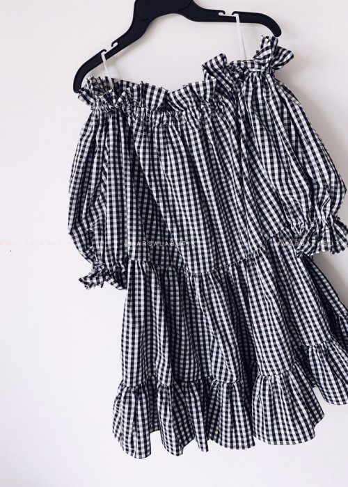 Sukienka BILBAO w kratkę