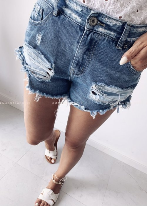 Ripped denim shorts SALTY NAVY