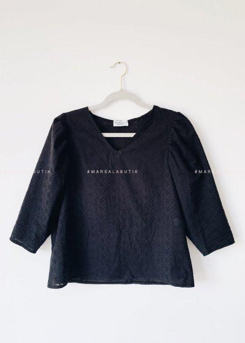 Bluzka LAGOON BY MARSALA ażurowa czarna