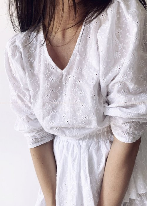 Bluzka LAGOON BY MARSALA ażurowa biała