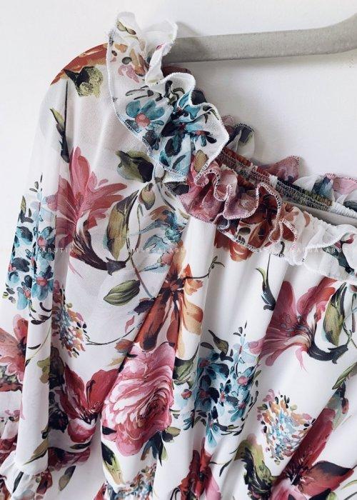 Sukienka LARISA hiszpanka kwiaty róż