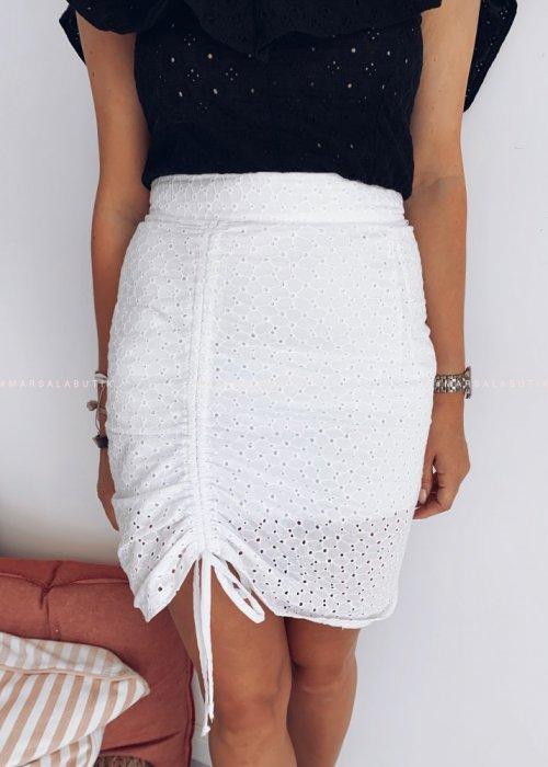 Spódnica biała ażurowa - ASHLEY