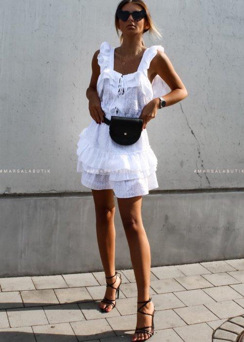 Sukienka CABANA ażurowa biała x Karolina