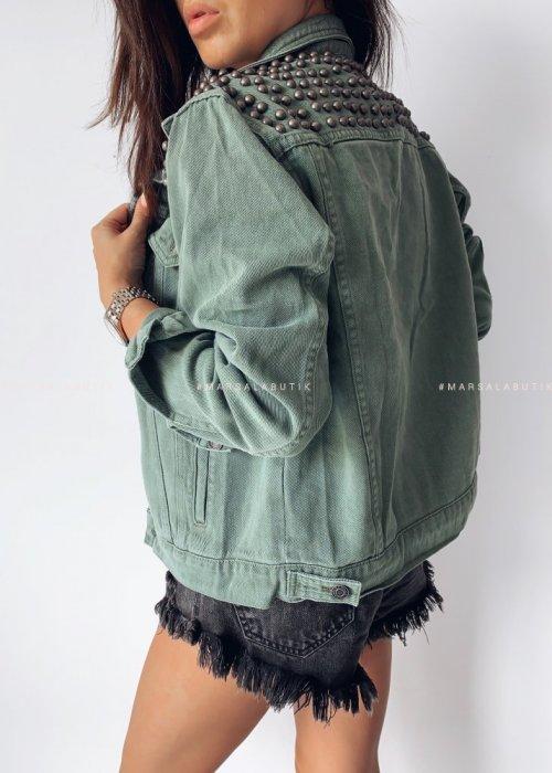 Studded jacket PRINCE khaki