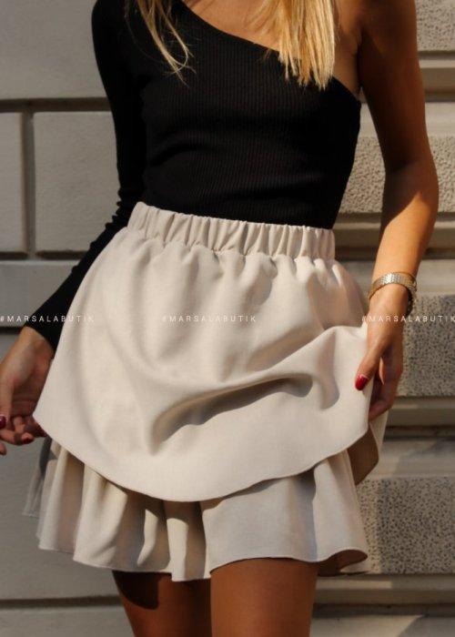 Spódniczka mini FRISCO BY MARSALA beżowa x Karolina