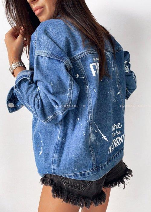 Katana jeansowa z napisami - BEVERLY