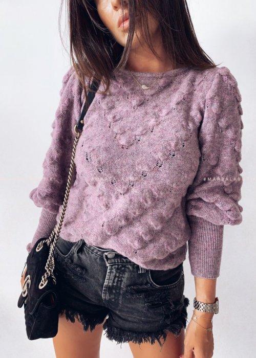 Sweterek ALABAMA liliowy