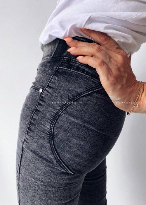 Spodnie/jegginsy szare PUSH UP