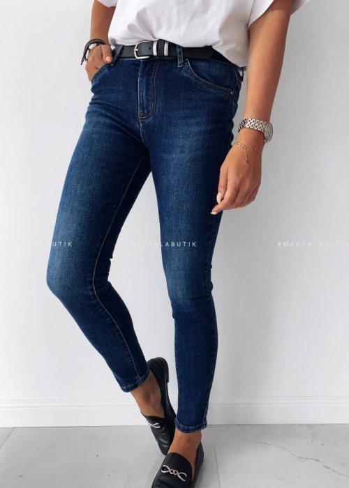 Spodnie jeansy NAVY JEANS WEAR z paskiem