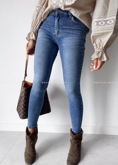Spodnie jeansy SLIM FIT gładkie