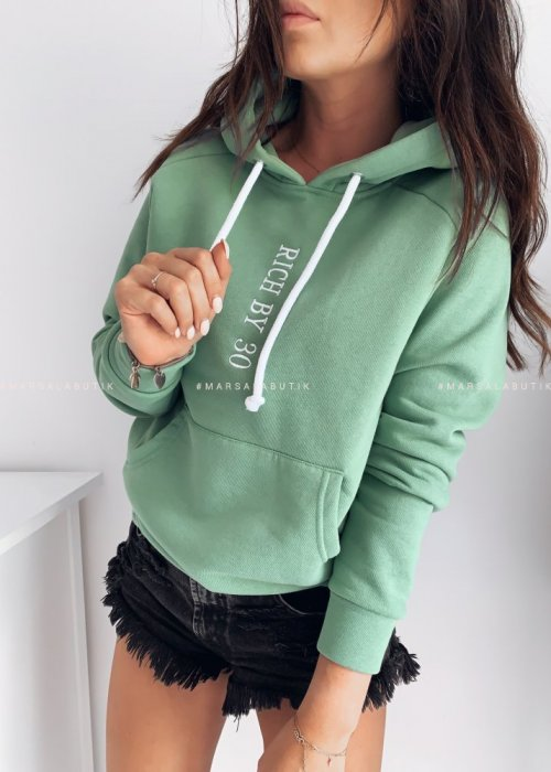 Hooded blouse green Rich By