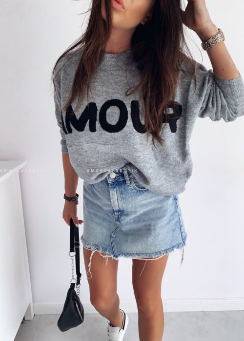 Sweterek AMOUR szary