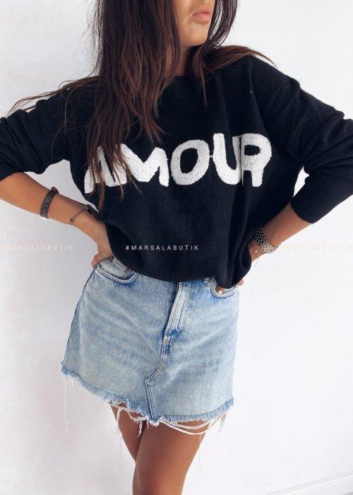 Sweterek AMOUR czarny