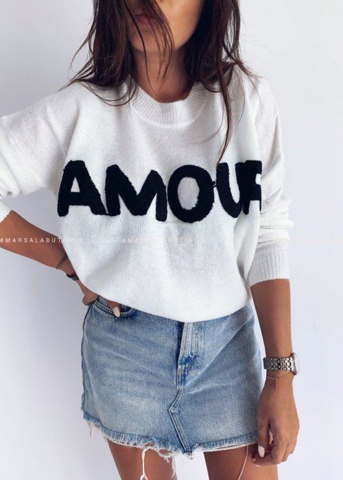 Sweterek AMOUR ecru