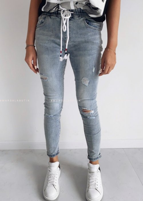 Denim jeans with elastic – JAMES