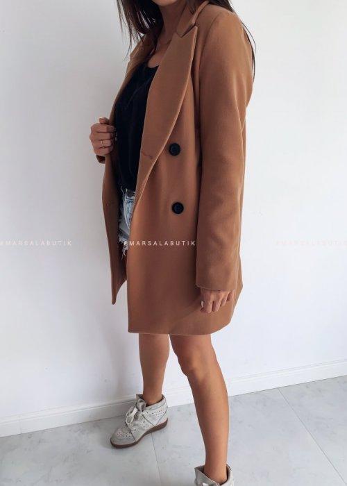 Płaszcz STYLISH BY MARSALA camelowy