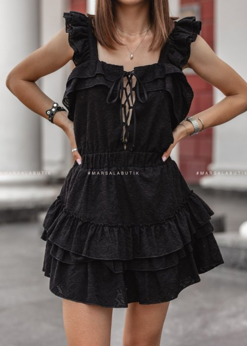 Sukienka CABANA ażurowa czarna