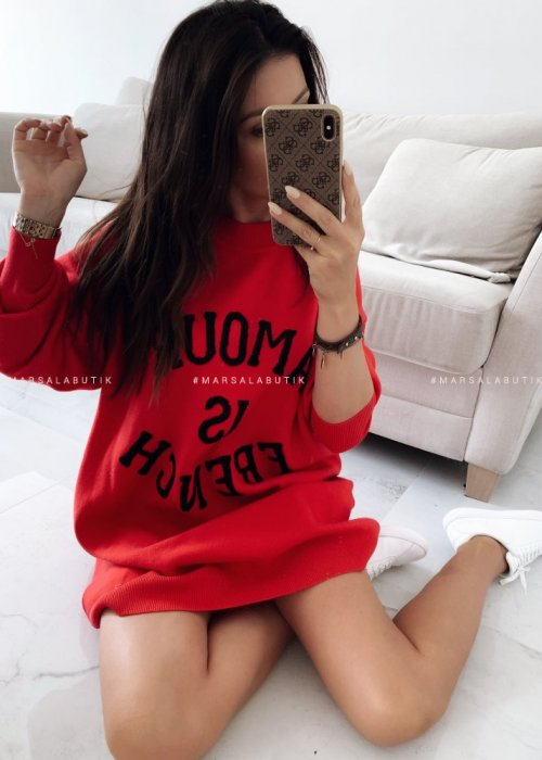 AMOUR IS FRENCH red sweater