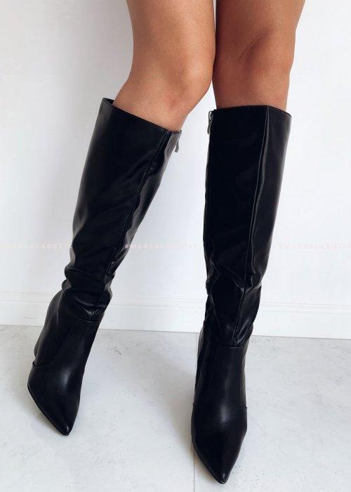 Black heel moon boots – PARKER