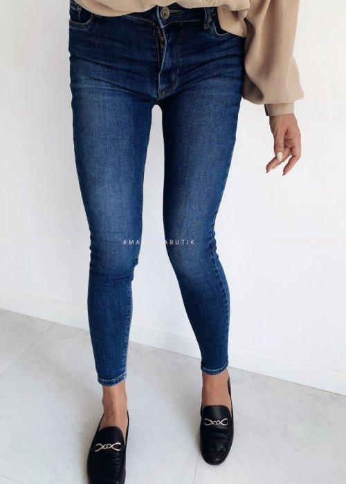 Spodnie jeansy NAVY SLIM FIT granat