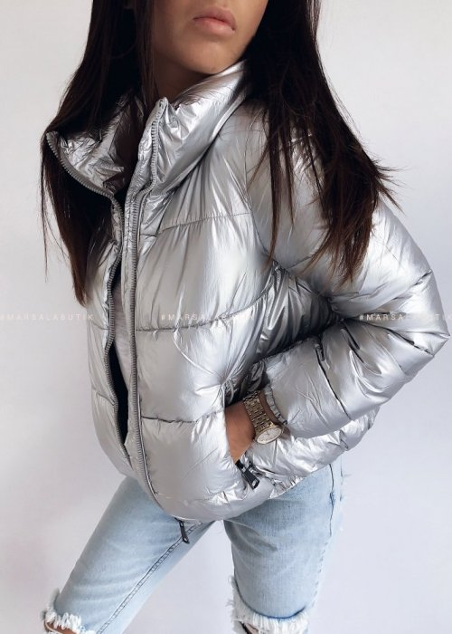 Silver down bomber jacket – SUGAR