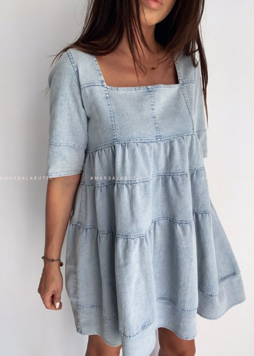 Denim frill dress MUSE by MARSALA