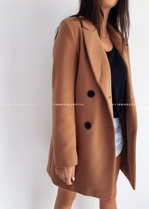STYLISH BY MARSALA camel coat