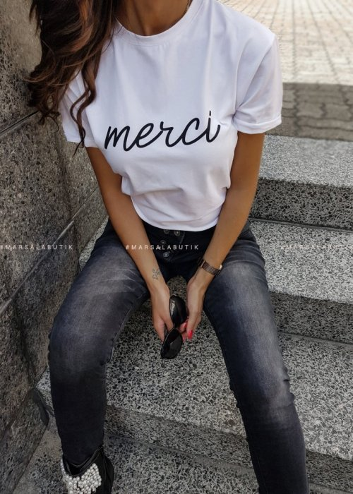 T-shirt merci white