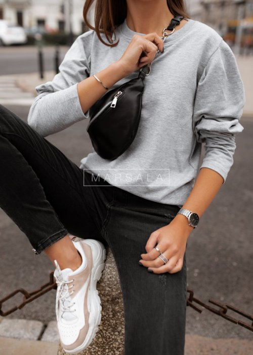 Bluza z bufkami szara - FEMALE by marsala
