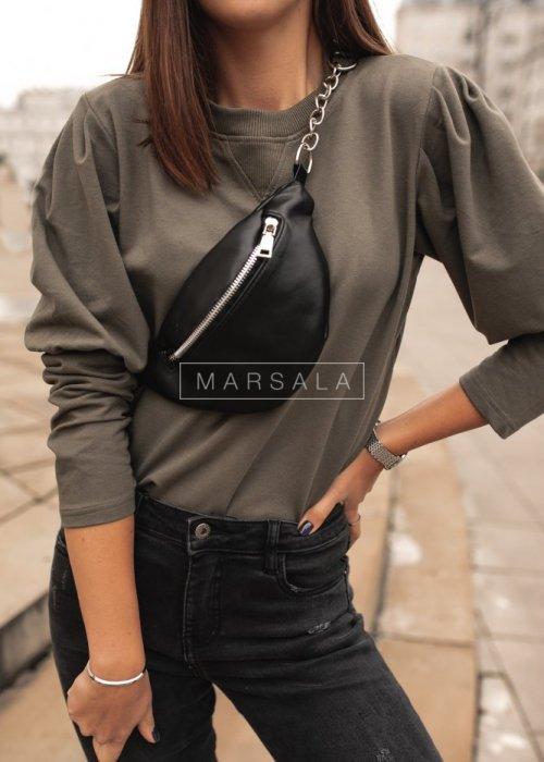 Bluza z bufkami khaki - FEMALE by marsala