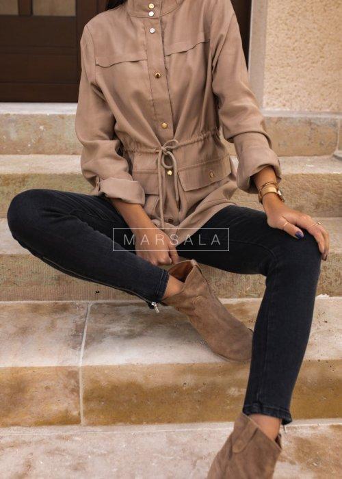 Lekka kurtka w kolorze beżowym - ARCADY